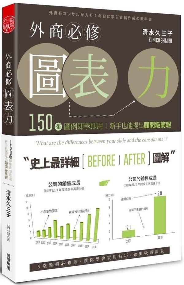 外商必修圖表力:150張圖例即學即用,新手也能提出顧問級簡報