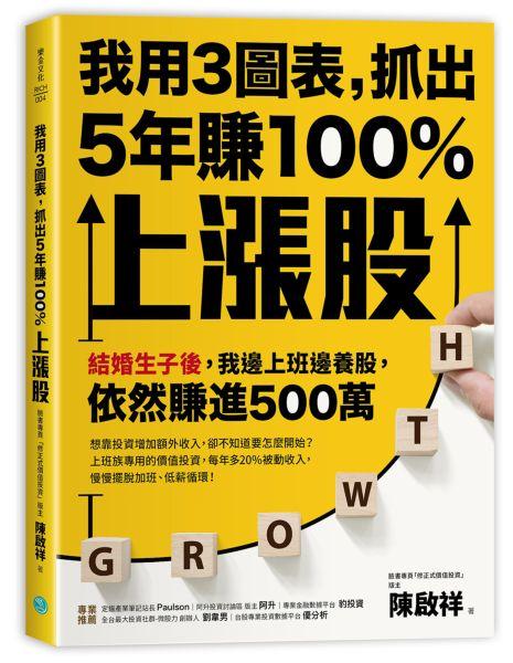 我用3圖表,抓出5年賺100%上漲股:結婚生子後,我邊上班邊養股,依然賺進500萬