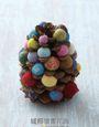 超可愛羊毛氈口金包(手作禮盒版):洗搓搓即可完成,一體成形的濕氈口金包